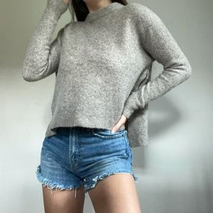360 Sweater Yak And Wool Zipper Taupe Pullover